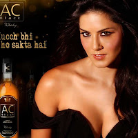 Exotic hot Sunny leone ac black wisky ad hot photo stills