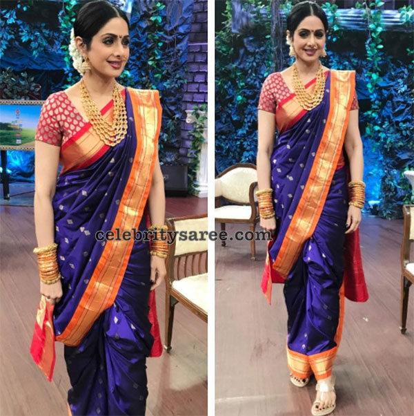 Sridevi Kapoor in Marati Style Saree