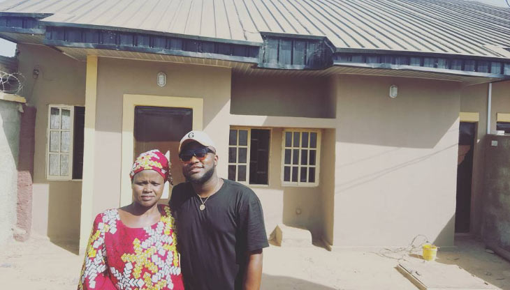 Skales shows off new house he built for his mother