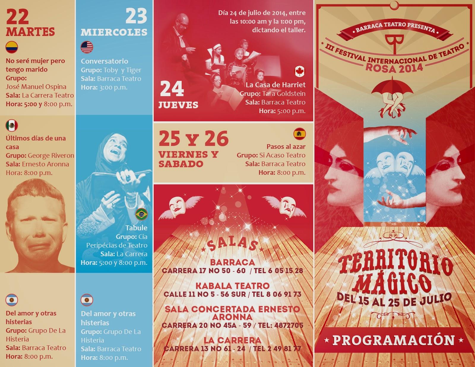 programación Teatro Rosa 2014 2