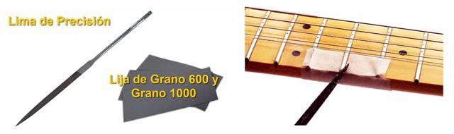 Cómo Redondear los Extremos de los Trastes de la Guitarra
