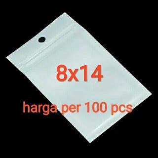 PLASTIK KLIP / PLASTIK ZIPLOCK PUTIH 8X14CM HARGA SATUAN MINIMAL PEMBELIAN 100 PCS