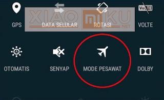 aktifkan mode pesawat untuk mempercepat proses charging xiaomi