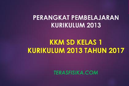Download KKM SD Kelas 1 Kurikulum 2013 Revisi 2017
