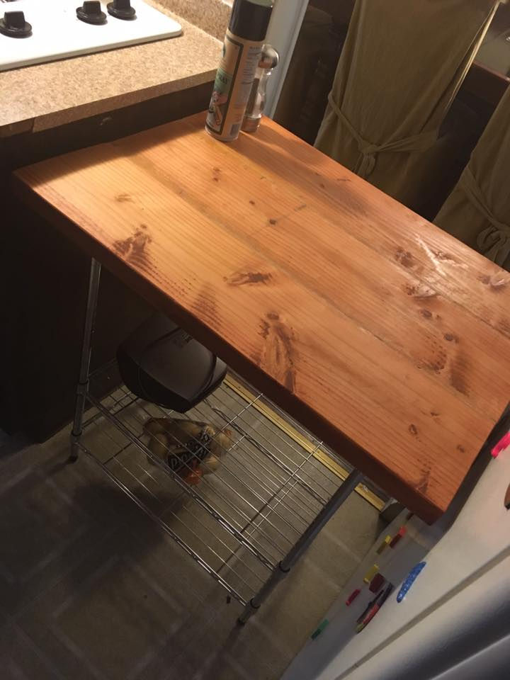 DIY - Butcher Block Kitchen Cart - One Brown Mom