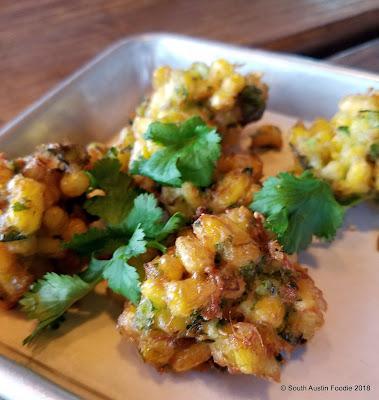 Loro Austin -- corn fritters