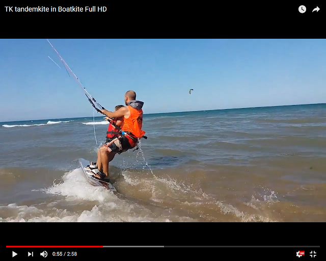 video tandemkite boatkite
