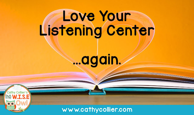 Love Your Listening Center...Again!  Instead of going crazy finding weekly books and activities, follow these easy steps for a MONTHLY book.  You'll love the listening center again.