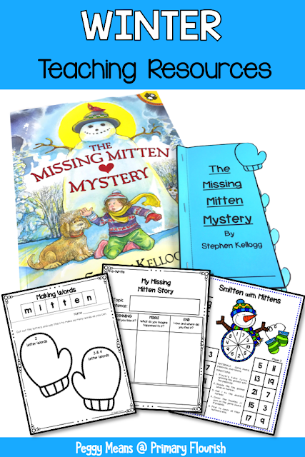 This book companion for 'The Missing Mystery' great for your 1st, 2nd, and 3rd grade classroom or home school students! Many cross-curricular activities are included: Reading: Summarizing the story, Spelling: Word making with the word: mitten, Math: Smitten with Mittens Doubles plus 1 addition game and Narrative Writing graphic organizer and writing paper. {first, second, third}