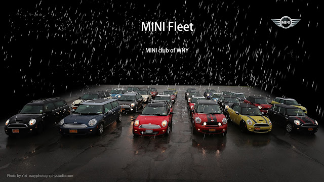 mini fleet in the rain commercial photography by Yizi Lockport Amherst Buffalo WNY