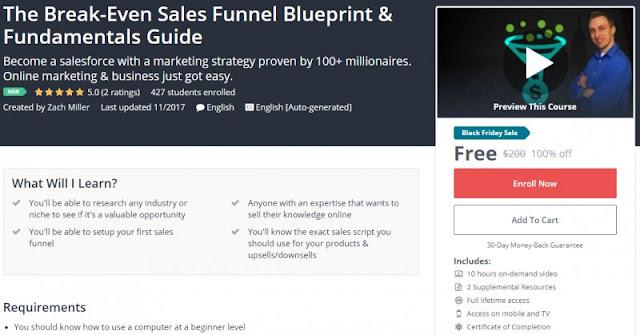 [100% Off] The Break-Even Sales Funnel Blueprint & Fundamentals Guide  Worth 200$