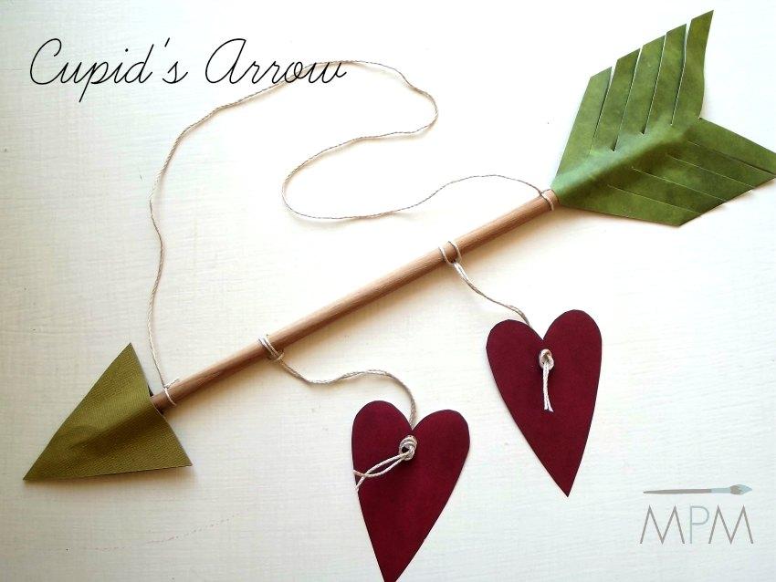 Freccia di Cupido fai da te per San Valentino