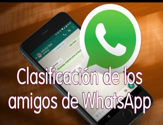 Clasificación de los amigos de WhatsApp