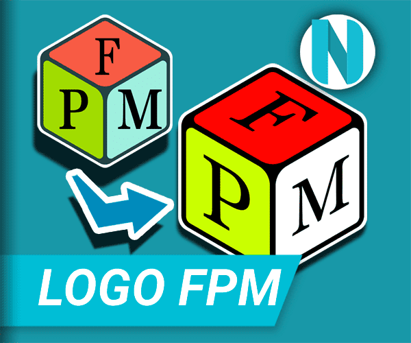 Logo FPM Assy Berbentuk Dadu Isometri Nandur93