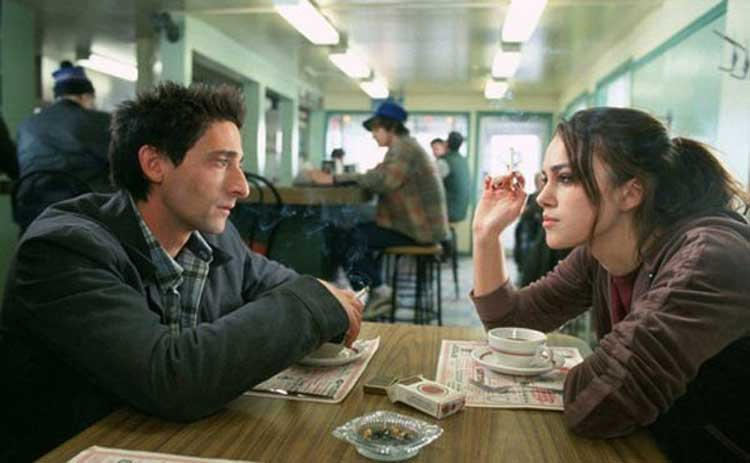 Adrien Brody and Keira Knightley in The Jacket