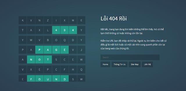 Tạo Trang Báo Lỗi 404 Bằng CSS với JS Đơn Giản Cho Blogspot