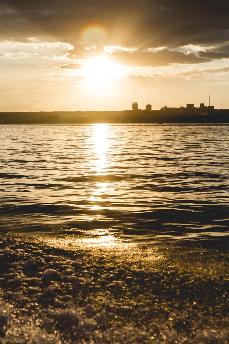 Por-do-sol no Lago Paranoá