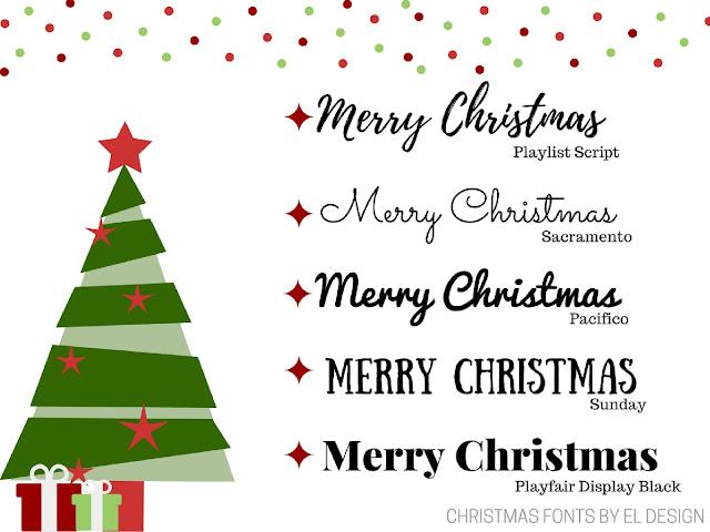 5 Χριστουγεννιάτικες γραμματοσειρές