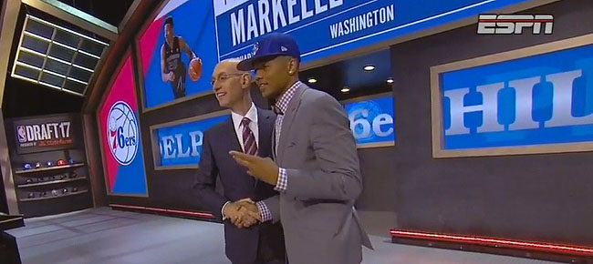 Markelle Fultz Drafted 1st Overall By Philadelphia 76ers In 2017 NBA Draft (VIDEO)