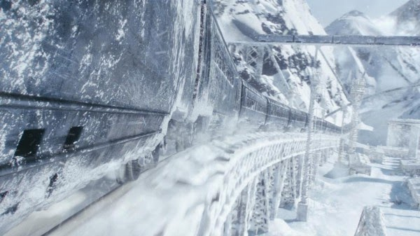 The snowy vistas of Snowpiercer.