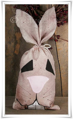 Primitive Grungy Bunny Bag - Tattered Sisters