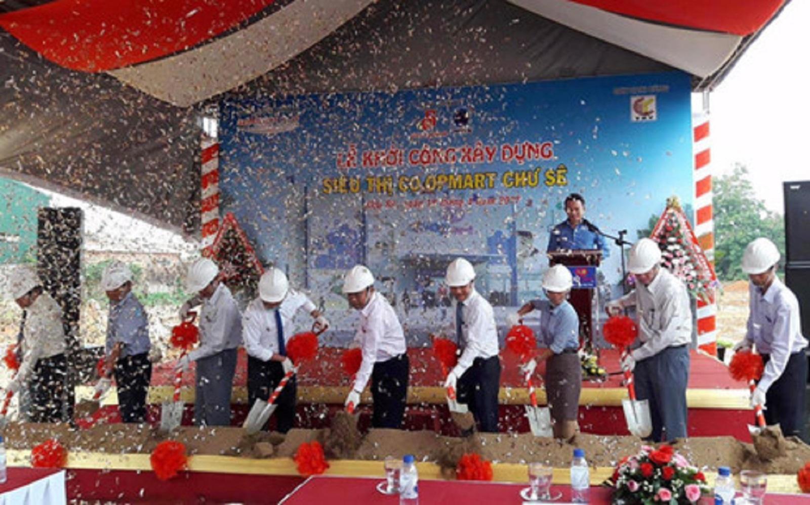 Gia Lai: Saigon Co.op khởi công xây dựng siêu thị Co.opmart Chư Sê