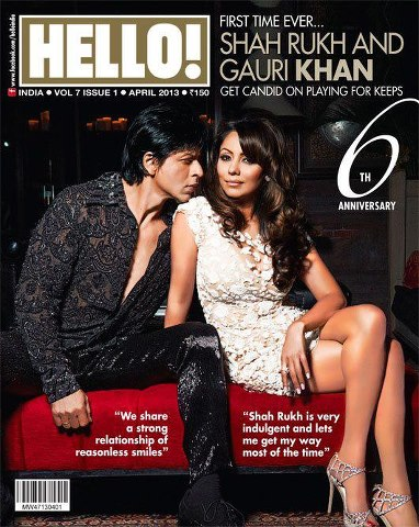 Shahrukh & Gauri On The Cover Of Hello Magazine