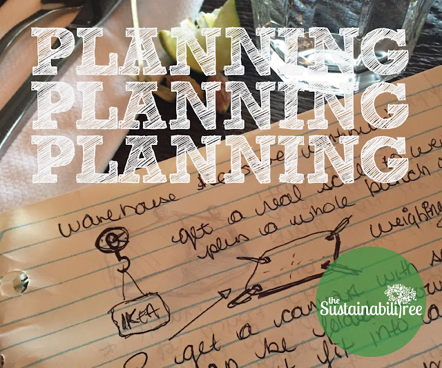 Planning doodles and text for the new uOttawa Free Store space