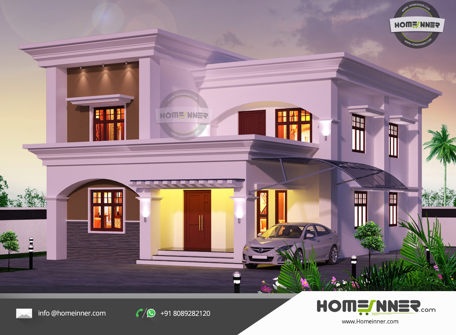 2182 sqft Arabic style 4 Bhk Villa Design