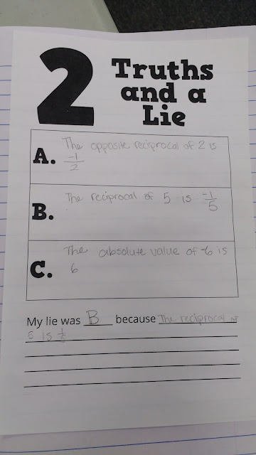 math   love  two truths and a lie activity template