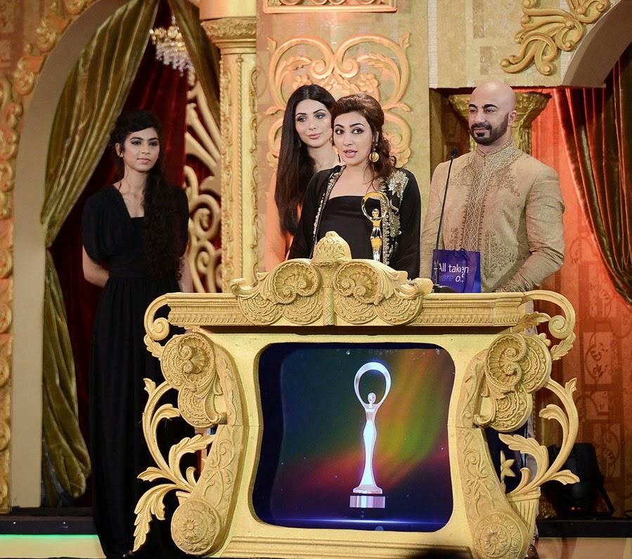 Aisha Khan wins Best Actor Female at ARY Film Awards 2014