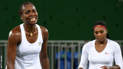 The Williams sisters entered Sunday's match with a 15-0 career record in the Olympics, having won gold in 2000, 2008 and 2012