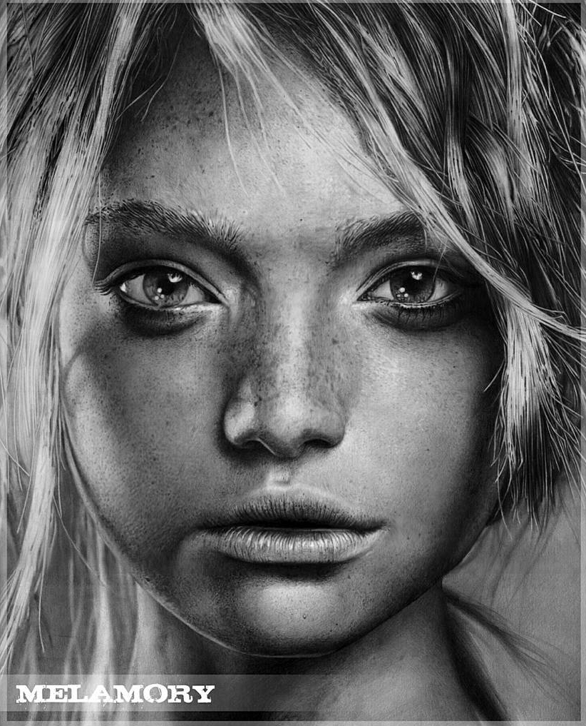 01-Gemma-Ward-Olga-Larionova-Melamory-Realistic-Black-and-White-Portraits-of-Celebrities
