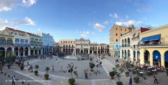 plaza vieja cuba havana view over the square the touristin
