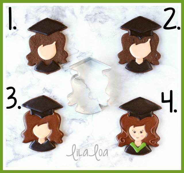 Girl graduate cookie decorating tutorial