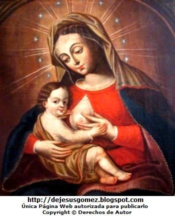 Virgen de la Leche o Virgen de Belén, pintura de Virgen de la Leche. Foto de la Virgen de la Leche tomada por Jesus Gómez