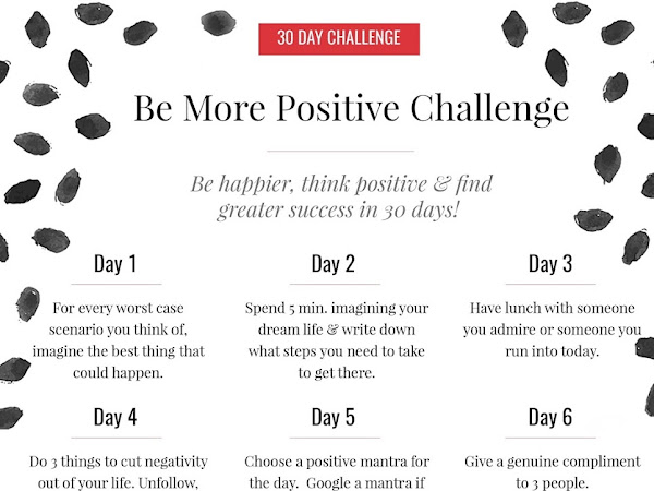 30 Day Be More Positive Challenge