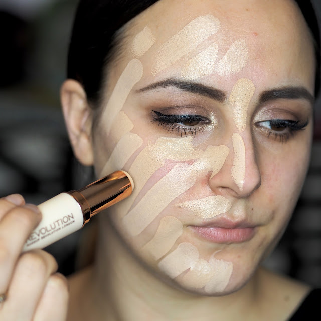 Makeup Revolution Fast Base Foundation stick swatches