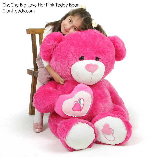 Hot Pink Teddy Bears Are Big  Cuddly!