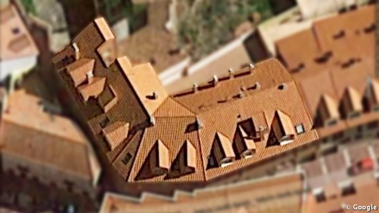 proyecto de edificio de viviendas en esquina cubierta