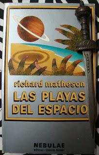 Portada del libro Las playas del espacio, de Richard Matheson