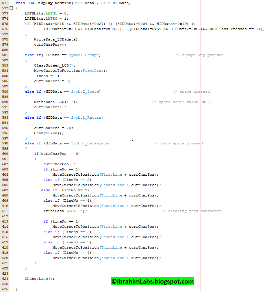 Ibrahimlabs Usb Hid Host Keyboard Interfacing With Pic32 Code Figure 1 Pic18f452 Led Blinking Circuit 2 Display Characters On Lcd