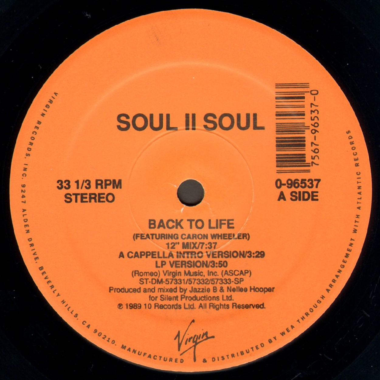 The Crack Factory Soul Ii Soul Back To Life Promo Vls