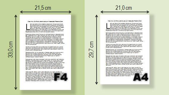 Perbedaan Ukuran Kertas A4 dan F4
