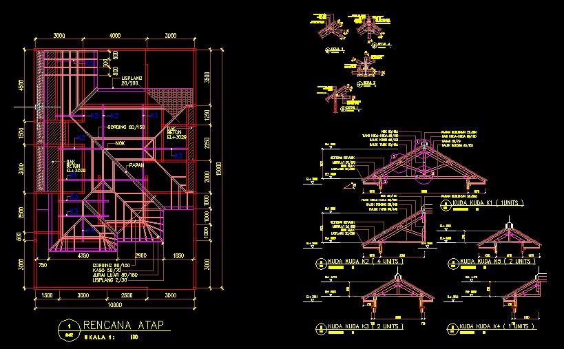 Gambar Desain Rumah Autocad Dwg Contoh Z