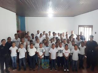 """Começa a """"Semana menos 1"""" aos alunos da Polícia Militar Mirim no 6º BPM FRON"""