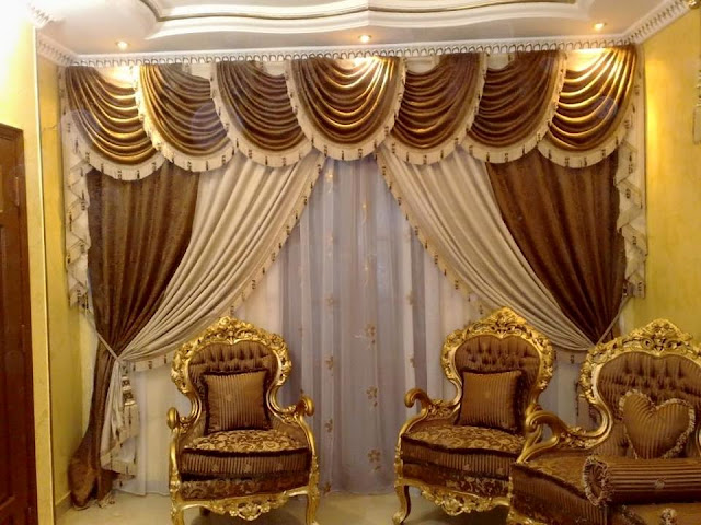 Best modern curtain designs 2016 curtain ideas colors, gold sparkling pattern for windows treatment