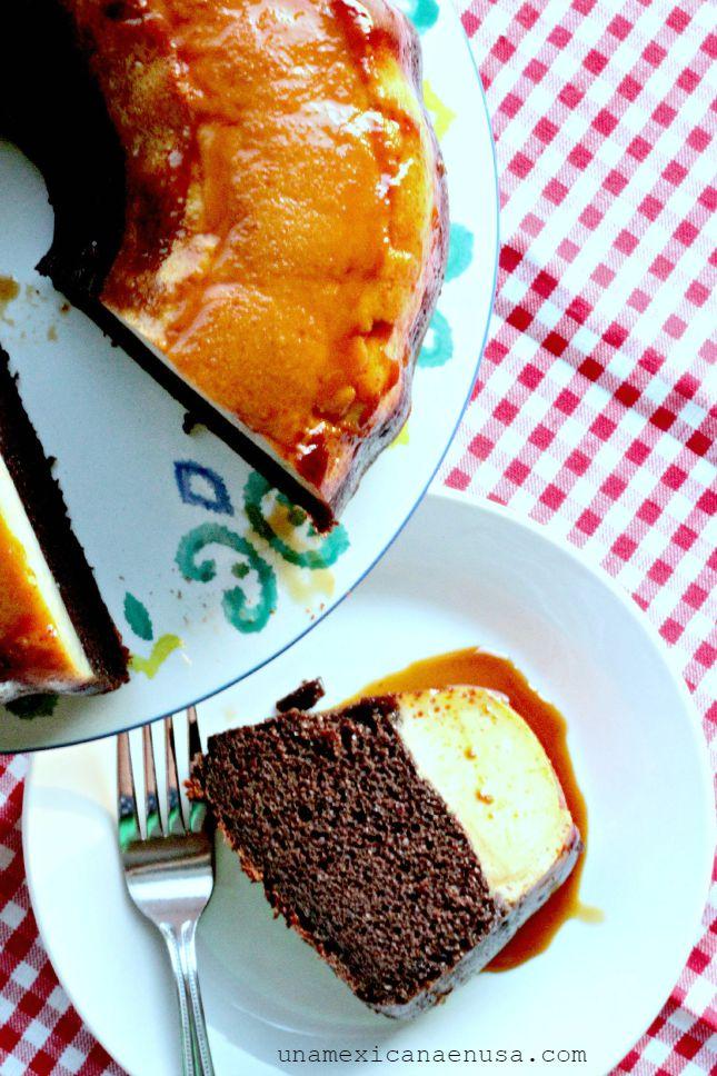 Receta fácil de chocoflán o pastel imposible by www.unamexicanaenusa.com