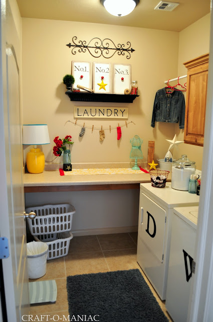 Laundry Room www.craft-o-maniac.com