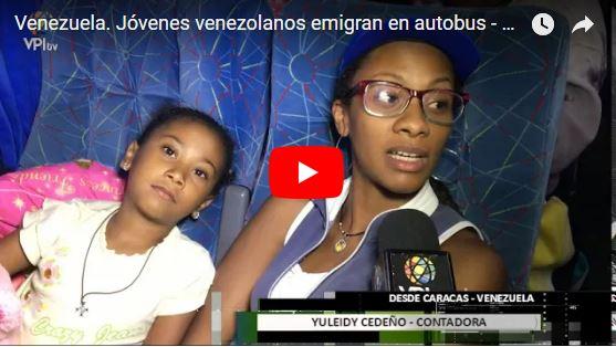Entrevista a los venezolanos que no son sifrinos y que se van del país en Autobús